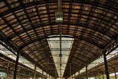 Tak av stationen i Baseln HDR Royaltyfri Foto