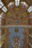 Tak av Sts George kapell, Ljubliana slott, Slovenien Arkivfoton