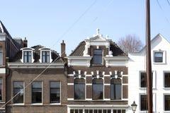 Tak av tappningbyggnader i Rotterdam Arkivbilder