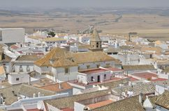 Tak av villlagen av Medina Sidonia Arkivbilder