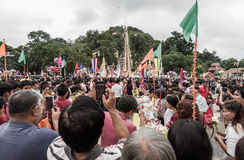 Tak Bat Devo-festival in Uthaithani Royalty-vrije Stock Afbeelding