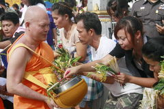 Tak Bat Dok Mai Festival Royalty Free Stock Images