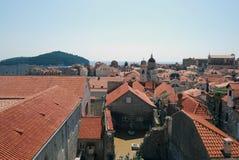 tak croatia dubrovnik gammal town Balkans Adriatiskt hav, Europa Carpathian Ukraina, Europa Fotografering för Bildbyråer