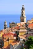 tak för basilicafrance menton Royaltyfri Fotografi
