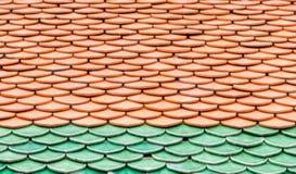 Tak för keramiska tegelplattor med lagermodellen Royaltyfri Bild