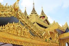 Tak för Kyauk Taw Gyi pagod` s, Yangon, Myanmar Royaltyfria Bilder