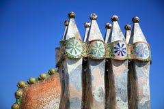 tak för lampglas för arkitekturbattlocasa Arkivfoton