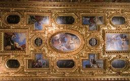 Tak för stuckatur för slott för doge` s, Venedig Royaltyfri Fotografi