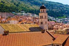 Tak i Dubrovnik, Kroatien Royaltyfria Foton