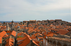 Tak i Dubrovnik, Kroatien Royaltyfria Bilder