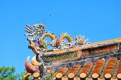 Tak i imperialistisk gravvalv av Minh Mang, Hue Vietnam UNESCOvärldsarv Arkivbilder