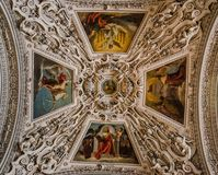 Tak i Salzburger Dom, Salzburg, Österrike Royaltyfria Bilder