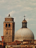 Tak i Venedig royaltyfria bilder