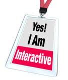 Tak Jestem Interaktywnej odznaki imienia etykietki Grupowym uczestnictwem royalty ilustracja