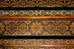 Tak med invecklade mönstrade detaljer av moorisharaborig royaltyfri bild