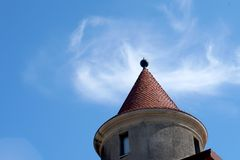 tak med kupolen Arkivfoto