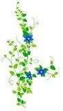 Tak met bloemen stock illustratie