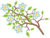 Tak met bloemen Stock Afbeelding