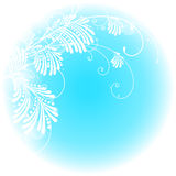 Tak op een blauwe achtergrond Stock Foto