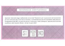TAK PRZYWDZIEWAM ` T ŻADNY ZNAM Włoskiego kartka do głosowania Obrazy Stock