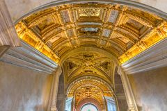 Tak Scala D Oro Palazzo Ducale Doge& x27; s-slott Venedig Italien Royaltyfria Foton