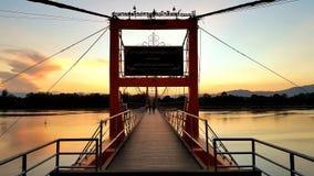 Tak, Tailandia, Nov05, 2015: bridg di Rattanakosin Sompoch di 200 anni Fotografie Stock