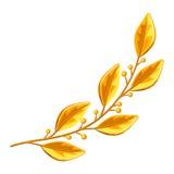 Tak van de Realictic de gouden laurier Decoratief element voor ontwerp stock illustratie