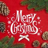 Tak van Kerstboom Stock Foto's