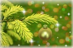Tak van Kerstmisboom met sterren stock afbeelding