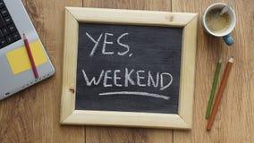Tak, weekend obrazy stock