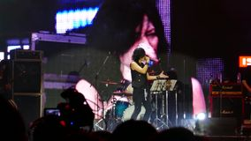 Taka of  Defspiral, Japanese singer . stock video footage