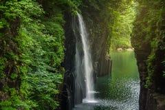 Takachiho峡谷 图库摄影