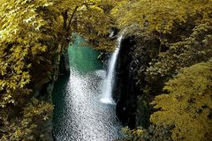 Takachiho gorge royalty free stock image