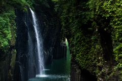 Takachiho gorge royalty free stock photo