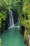 Takachiho gorge and waterfall in Miyazaki, Japan stock images