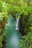 Takachiho gorge and waterfall in Miyazaki, Japan stock photography