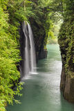 Takachiho gorge and waterfall in Miyazaki, Kyushu, Japan royalty free stock photo
