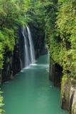 Takachiho klyfta och vattenfall i Miyazaki, Japan Arkivbilder