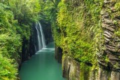 Takachiho klyfta och vattenfall i Miyazaki, Kyushu, Japan Arkivbilder
