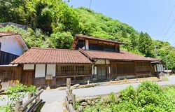 Takahasi siedziba Iwa Ginzan, Omori, Japonia obrazy stock