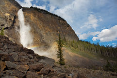 Takakkaw Falls. Takkakaw waterfalls in Yoho National Park in the Rocky Mountains of Canada Royalty Free Stock Images
