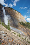 Takakkaw Falls. Takkakaw waterfalls in Yoho National Park in the Rocky Mountains of Canada Royalty Free Stock Image