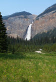 Takakkaw falls in Canada Royalty Free Stock Images