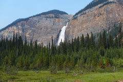 Takakkaw falls in Canada Royalty Free Stock Photography
