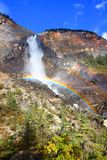 Takakkaw Falls Rainbow in Canada Stock Images