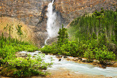 Takakkaw Falls waterfall in Yoho Stock Photography