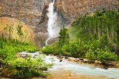 Takakkaw Falls waterfall in Yoho Stock Photography