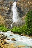 Takakkaw Falls waterfall in Yoho Park, Canada Royalty Free Stock Photography