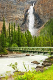 Takakkaw Falls waterfall in Yoho Park, Canada Royalty Free Stock Photos