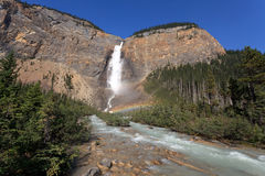 Takakkaw Falls. In the Yoho National Park in British Columbia Royalty Free Stock Image